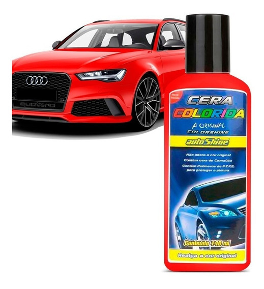 Cera Automotiva Colorida Vermelha Clara 140 Ml Autoshine
