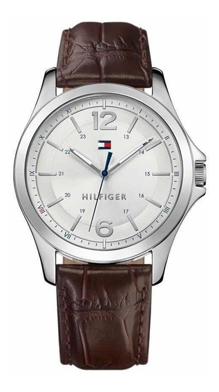 Reloj Tommy Hilfiger Café De Hombre 1791377 Piel