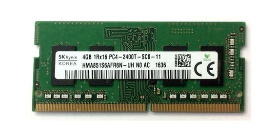 Memoria Skhynix 4 Gb Ddr4 Pc4 2400 Hma851s6afr6n-uh Notebook