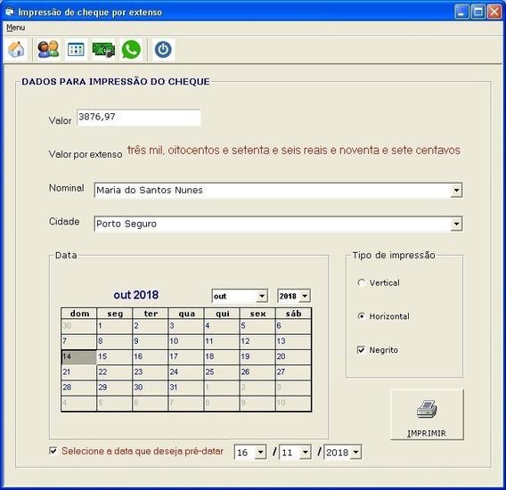 Programa Imprime Cheque Por Extenso Datacheck
