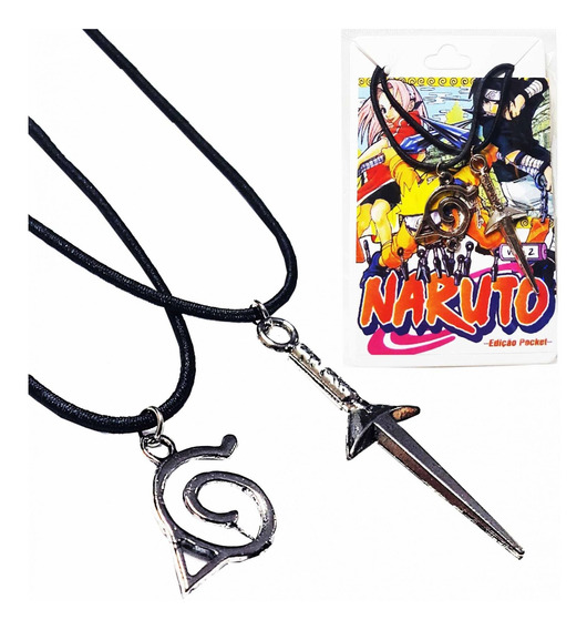 Naruto 2 Colar Vila Folha Kunai Bff Best Friend Namoro Anime