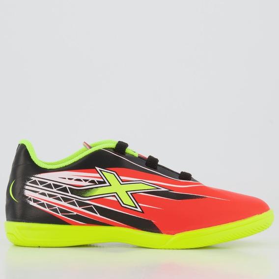Chuteira Oxn Racer Futsal Infantil Laranja