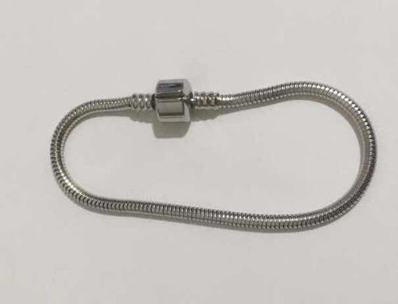 Pulseira Para Berloques C/trava Tam 20cm Aço Cirúrgico 316 L