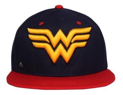 Gorra Logo Wonder Woman Bicolor C/broche Original $260