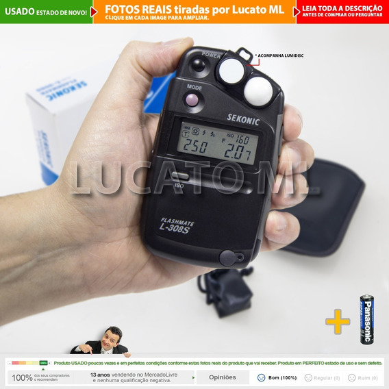 Fotômetro Sekonic L308s + Lumidisc - Como Novo Com Caixa