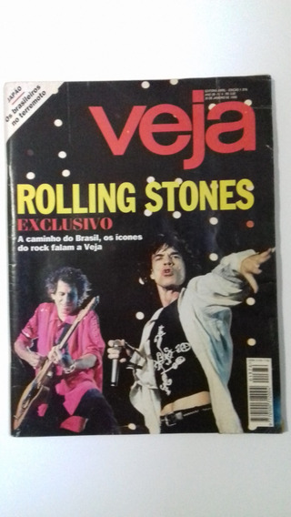 Revista Veja 1376 - Jan1995 - Rolling Stones - Rock