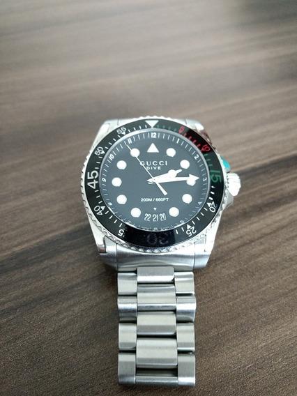 Relógio Gucci Armbanduhr Damen Quarz Gucci Dive Ya136208a