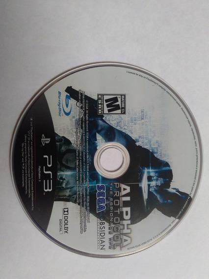 Alpha Protocol - Sony Playstation 3 Jogo Original Ps3