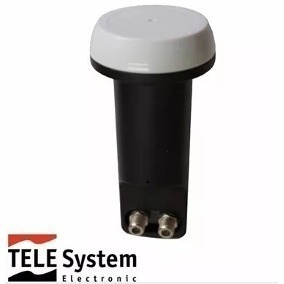 1 Lnb Duplo ( 2 Saidas) Telesystem Tst W12-1 Hd Ku Universal