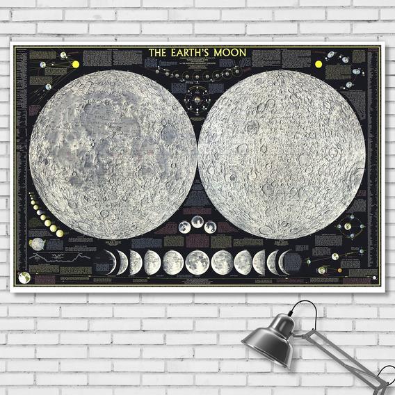 Mapa Póster De La Luna 92cmx61cm