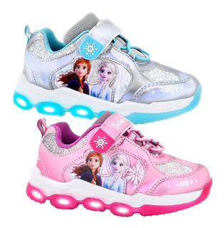 Zapatillas Con Luces Led Footy Disney Frozen Mickey Minnie