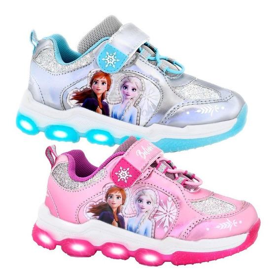 Zapatillas Con Luces Led Footy Disney Frozen Mickey Minnie