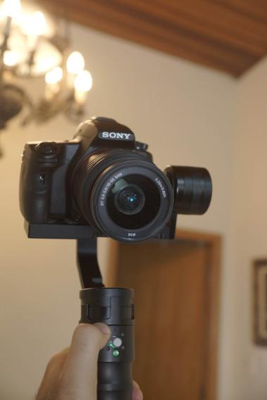 Kit Estabilizador Ikan+ Camera Sony + 2 Lentes N É T5i T6i