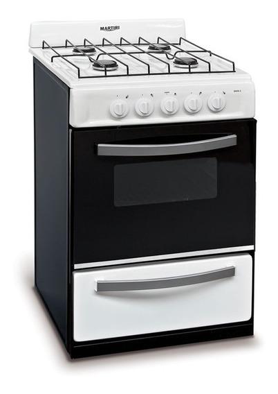 Cocina 56 Cm Blanca Gas Natural Martiri 2001 White Nueva!