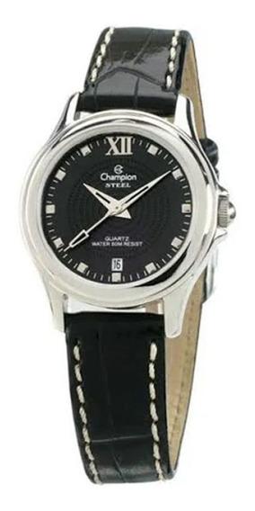 Relógio Champion Feminino Pulseira De Couro Ca28814t