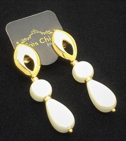 Brincos Pérolas Shell Gota Banho Ouro 18k Garantia 2139