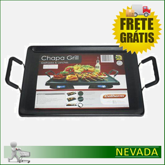 Chapa Grill P/ Fogão - Anti Aderente