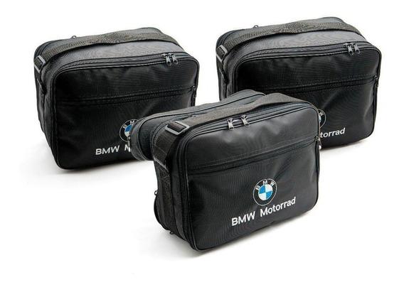Kit 3 Malas 02 Laterais 01 Top Case Baú Bmw Gs 800/1200