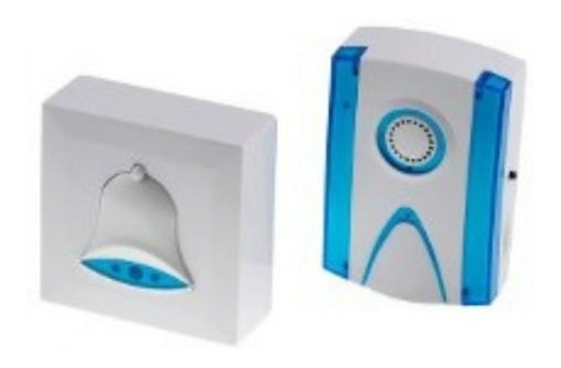 Campainha Sem Fio 150 Metros 32 Toque Led Wireless Casa Loja