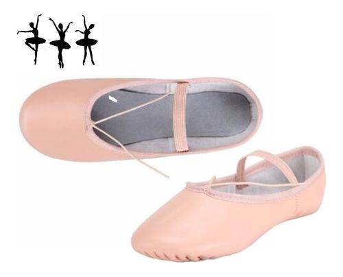 Zapatilla Ballet Cuero Rosa Danza - Tuproductouy