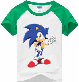 Camiseta Raglan Infantil Sonic