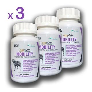 3 Frascos Glucosamina Y Condroitina Para Perro 60 Tab