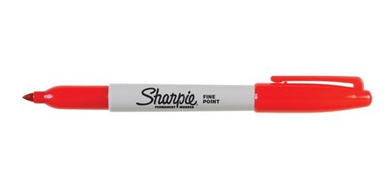 Marcador Fibron Sharpie Indeleble Permanente Rojo