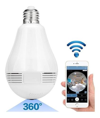 Imagen 1 de 6 de Cámara Lampara 360 Hd Luz Audio|graba-matko Seguridad