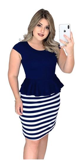 Roupas Femininas Vestido Feminino Casual Festa Importado Conjuntinho Conjuntos Da Moda Azul Marinho 2729