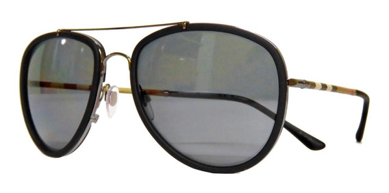 Lentes Gafas De Sol Burberry Be3090q Polarized Aviador 57mm