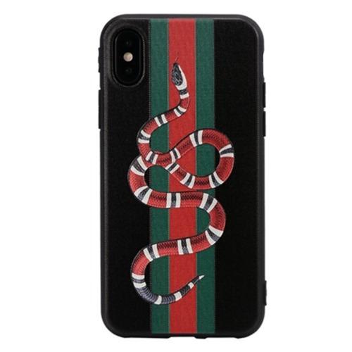 best sneakers 515fe ae27a Capinha Gucci Preta Snake Cobra iPhone 6 6s 7 Plus 10 X Case