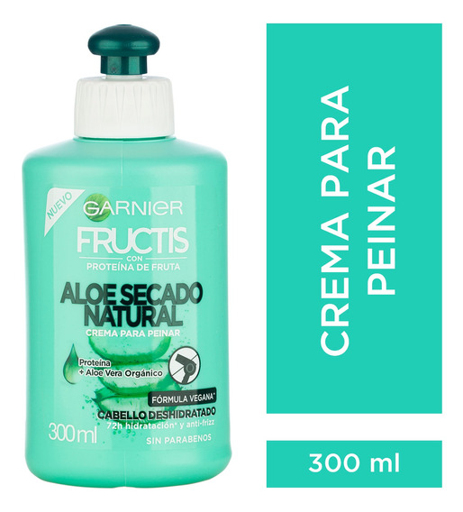 Crema Para Peinar Fructis Aloe Hidra Bomb 300 Ml Garnier