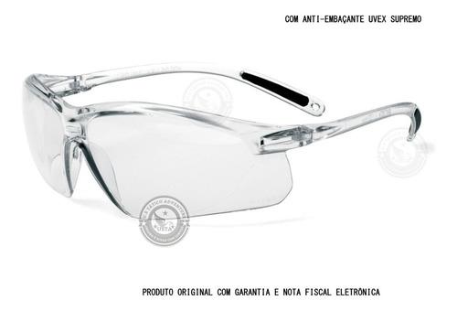 Óculos Proteção Uvex Incolor Antiembaçante Supremo Original