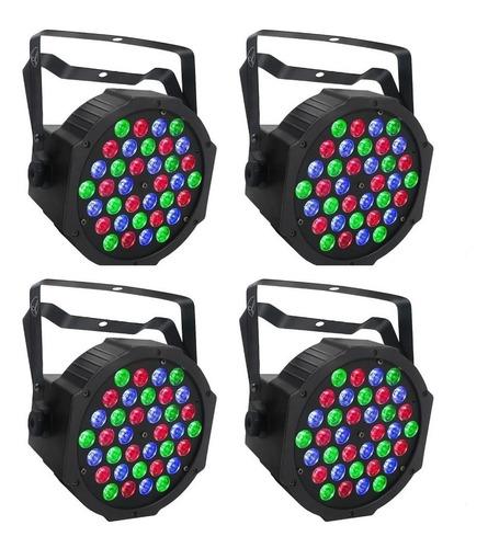 Imagen 1 de 5 de 4 Par Led 36x1w Dj Sonido Grupo No 18x3 18x1 Tacho Iluminaci