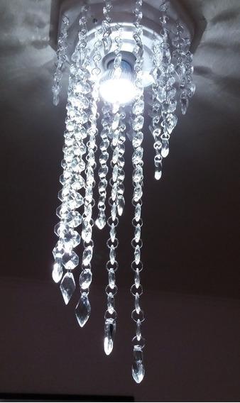 Lustre Luminária Cristal Alto Brilho Kit Com 2 Super Lindo