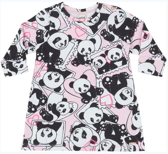 Vestido Anime Bebe Panda Baby Estampado