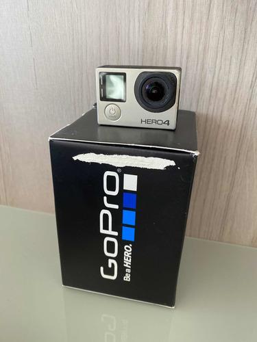 Gopro Hero 4 Silver Com Tela  + Acessórios