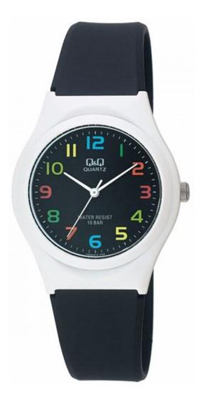 Relógio Infantil Preto E Branco Q&q Prova D