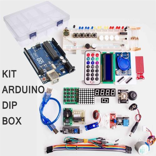 Imagen 1 de 2 de Kit De Inicio Para Aprendizaje De Arduino Dip +caja  Inc Igv