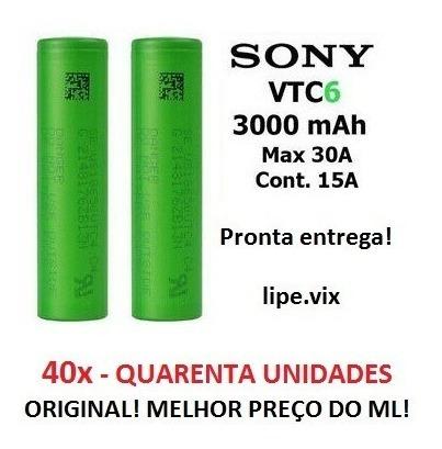 40x Baterias 18650 Sony Vtc6 3000mah 30a Vape Vaporizador