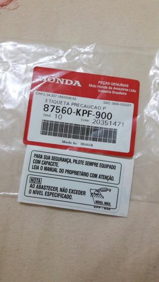 Adesivo Precaução Tanque Honda Todas