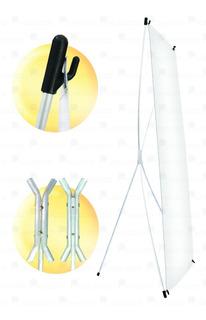4 Porta Banner Centro Reforzado De Aluminio 180x80 Cm.
