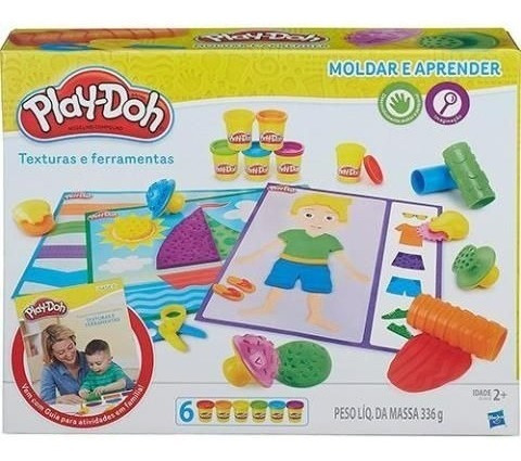 Brinquedo Hasbro Massinha Playdoh Texturas E Ferramentas