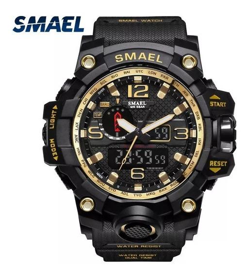Relógio Smael 1545 Militar Tático A Prova D