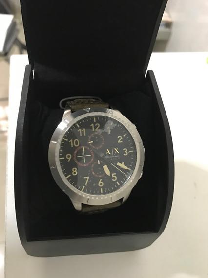 Armani Exchange Ax Relógio Pulseira De Couro (novo)