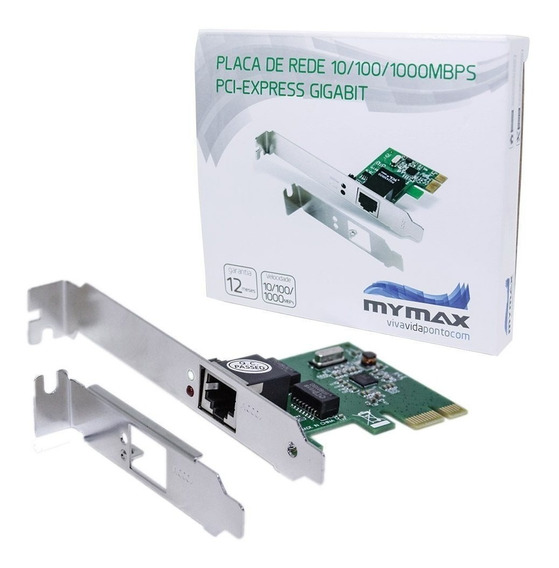 Placa De Rede Gigabit Perfil Baixo Mymax Pci-express