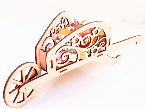 Imagen 1 de 4 de Candy Bar Carretilla Souvenir - Mdf / Fibrofacil