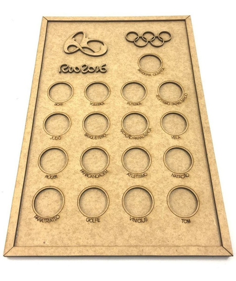 Quadro De Moedas - Olimpíadas Rio 2016 - Kit Com 4