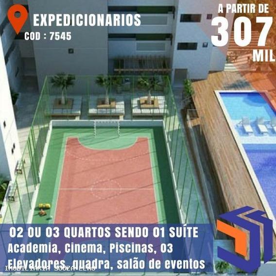 Apartamento Para Venda Em João Pessoa, Expedicionários, 2 Dormitórios, 1 Suíte, 1 Banheiro, 3 Vagas - 7545