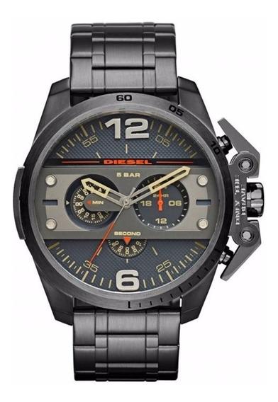 Relógio Diesel Masculino Ironside Dz4363/1pn Aço Cronografo